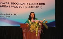 Thứ trưởng Bộ GD&ĐT Nguyễn Thị Nghĩa phát biểu tại Hội thảo