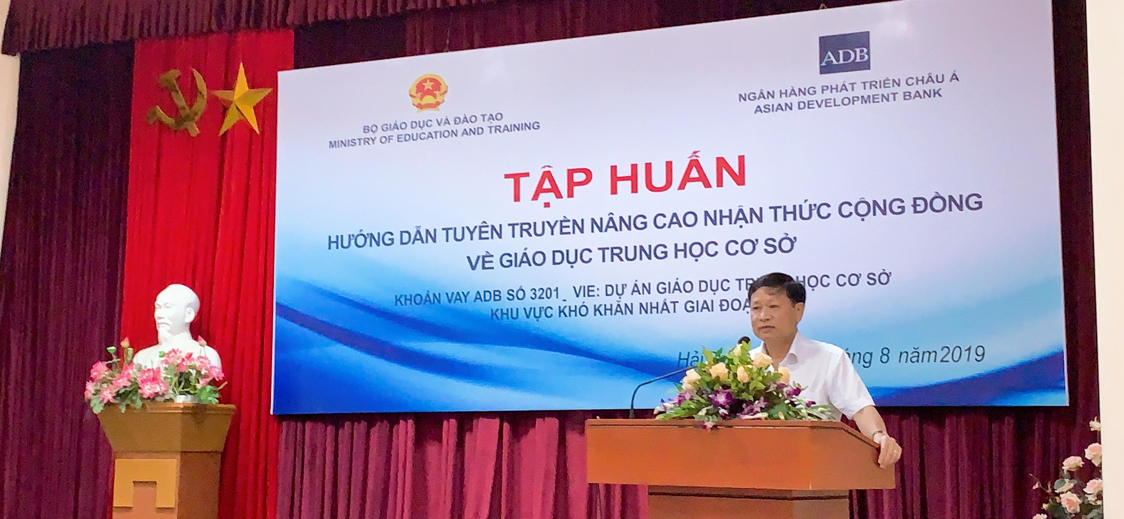 Tập huấn Hướng dẫn tuyên truyền nâng cao nhận thức cộng đồng về giáo dục THCS - 8/2019 - Đồ Sơn, Hải Phòng